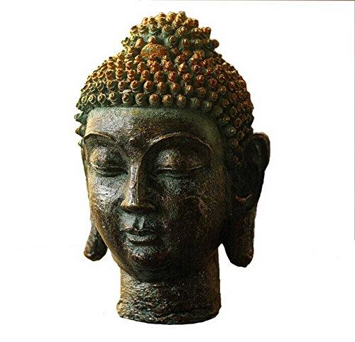 Pastoral Home Furnishing Decor Resin Decoration-Shakya Mani Buddha Head