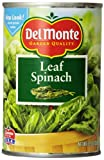 Del Monte Whole Leaf Spinach, 13.5-Ounce Cans (Pack of 12)