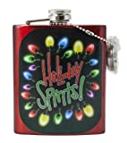 """Spoontiques Flask, """"Holiday Spirits"""""""