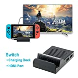 YOUSHARES Charging Dock for Nintendo Switch – Heat Dissipation Replacement Charging Stand Including Electronic Chip, TV Mode Supported, with HDMI, USB 2.0/3.0, Type-C Port for Switch Console