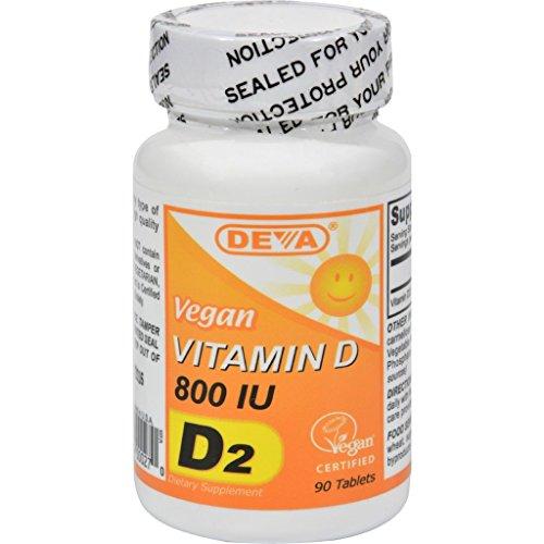 Deva Vegan Vitamin D - 800 IU - 90 Tablets (Extreme Cheese Gold Fish compare prices)