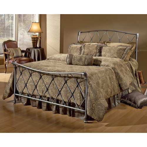 Hillsdale Furniture 1298BFR Silverton Bed Set with Rails, Full, Brushed Silver