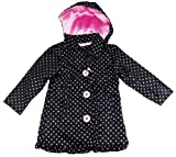 Pink Platinum Toddler Girls 2-6X Sarah Printed Trench Black Jacket
