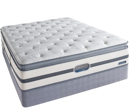 Cheapest Prices! Simmons Beautyrest Recharge Plush Pillow Top King Mattress Pocketed Coil Gel Memory...