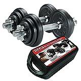York 20kg Cast Iron Dumbbell Set and Caseby York Fitness