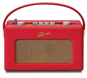 Roberts Revival 250 Radio Vintage FM/MW/LW Caisson Bois Haute Densité Finition Simili Cuir - Rouge