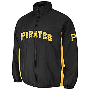 Pittsburgh Pirates Black Authentic Double Climate On-Field Jacket by Majestic by Majestic