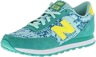 New Balance Women's WL501 Classic Shoe Running Shoe,Green/Yellow,5 B US