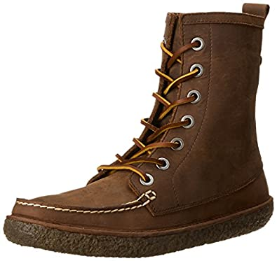 SeaVees Men's 02/60 7 Eye Trail Combat Boot,Walnut Pull-Up Leather,7 M US