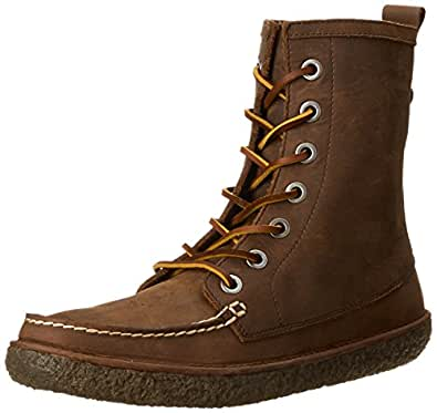 SeaVees Men's 02/60 7 Eye Trail Combat Boot,Walnut Pull-Up Leather,8 M US