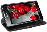 Mumbi Etui en Cuir pour LG Optimus L7 II Noir