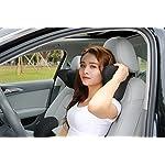 Car headrest pillow, Car Neck Pillow Memory Foam With Adjustable,Car Seat Head Pillow for driving,neck pillow for car,car seat neck support (Black)