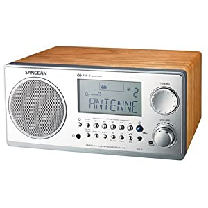 Sangean WR-2 Digital AM/FM Tabletop Radio, Walnut