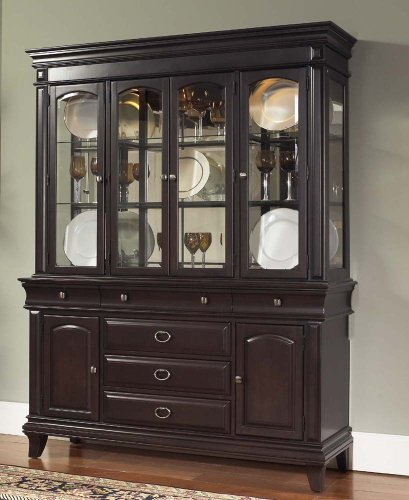 Buy Low Price Samuel Lawrence China Cabinet by Samuel Lawrence – Dark Merlot (8098-141R) (8098-141R)