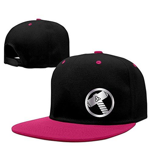 Thor Hammer Platinum Style Baseball Snapback Cap Pink