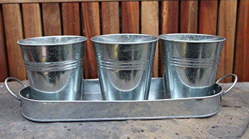 galvanized-zinc-metal-herb-flower-pots-planter-set-of-3-on-tray-various-colours-original-zinc-colour