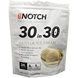 """Top Notch """"30 in 30"""" Protein Shakes (VANILLA ICE CREAM)-- Best Way to Start Your Day. ONLY 5 INGREDIENTS & GUARANTEED to Be a Delicious & Filling Drink- Great Instant Breakfast Meal Replacement to Lean up and Lose Bodyfat- High in Fiber, Low in Sugar & Carbs, Gluten-Free and All-natural Flavors (20 Individual Packets)"""