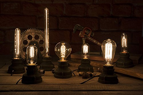 Kiven Steampunk Iron Table Lamp Vintage Style Desk Light E27 Iron Base Modern Antique Table Light Bulbs Not Included 3
