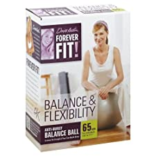 Forever Fit by Denise Austin, Anti-Burst Balance Ball, Balance & Flexibility, 65 cm 1 ball