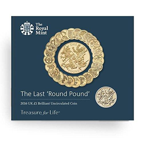L' ultimo round sterlina 2016Regno Unito 1GBP moneta sterline Royal Mint