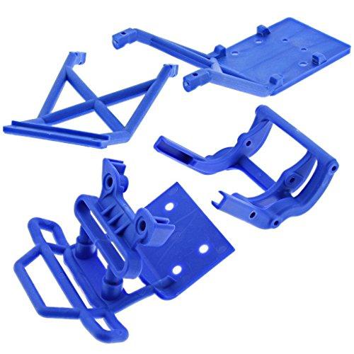 Traxxas 1/10 Skully 2WD BLUE FRONT BUMPER, WHEELIE BAR, MOUNTS & SKID PLATES (Traxxas Monster Jam Wheelie Bar compare prices)