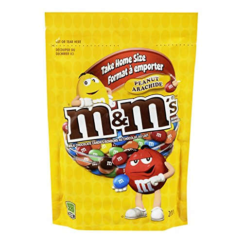 M&M's Peanut Candies Stand up Pouch 200g