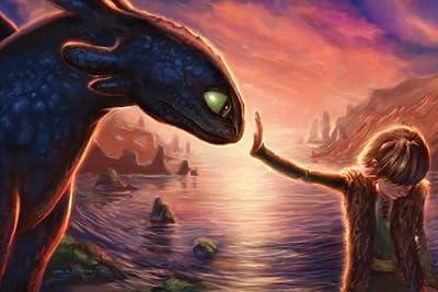 絵画「How to train your dragon」 ヒックとドラゴン DreamWorks Animation Fine Art ドリームワークスアニメーションファインアート