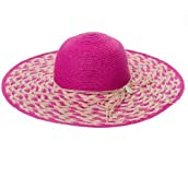 Pink Stripe Straw Sun Hat