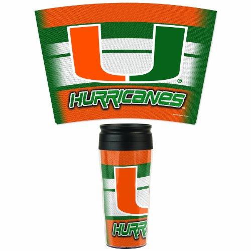 NCAA Miami Hurricanes 16-Ounce Travel Mug (Miami Hurricanes Slides compare prices)