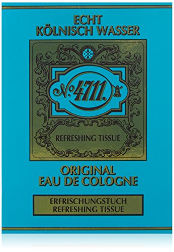 4711 Original Eau De Cologne, Refreshing Tissue, Uomo, 10 gr