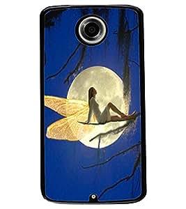 ColourCraft Lovely Angel Design Back Case Cover for MOTOROLA GOOGLE NEXUS 6