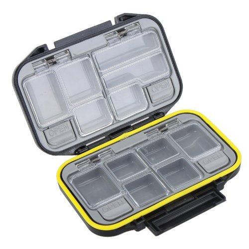 Gearmax® Fishing Tackle Box /Pesca Tackle Box/ caso di immagazzinaggio Lure Tackle Box, impermeabile(Nero)