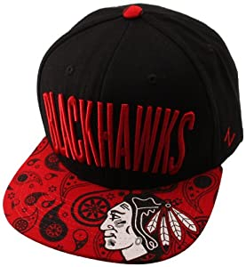 NHL Chicago Blackhawks Bandit Snap Hat, Black