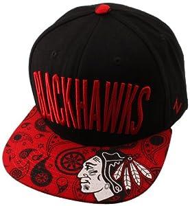 NHL Chicago Blackhawks Bandit Snap Hat, Black