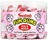 Swizzels Matlow Fun Gum Tubs Pigs Mugs (2 x 120)