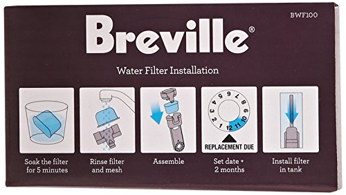 Breville BWF100 Single Cup Brewer Replacement Charcoal Filters White New eBay