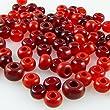 90 gro�e Rocailles Glasperlen 5-7mm Perlen Mix rot -844