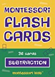Montessori Flash Cards Subtraction Basic