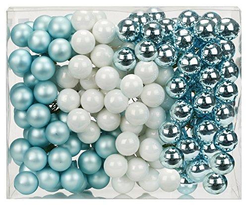 144-Spiegelbeeren-Kugeln-am-Draht-2cm-Cool-Mint-mint-grn-wei-Weihnachtskugeln-Baumkugeln-Baumschmuck-Weihnachtsdeko-Kugeln-Glaskugeln-Set