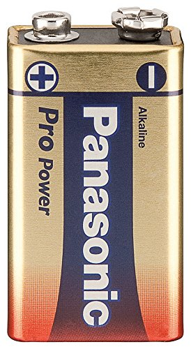 Pile alcaline carrée 9 v block-panasonic pro power gold award () : 48,5 mm