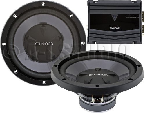 "Kenwood Pw-1220 12"" Bass Party Pack, 350W Max Power (Kac-5206 + Kfc-W112S 2Pcs) Pw1220"
