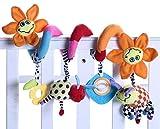 Happy Cherry - Juguetes Espiral Colgantes Peluche Animales para Cuna Cochecito beb�s ni�os con sonidos - Flor de sol