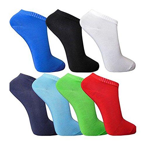 12-Paar-LK-Herren-Sneaker-Socken-mehrfarbig-schwarz-und-wei-zur-Auswahl
