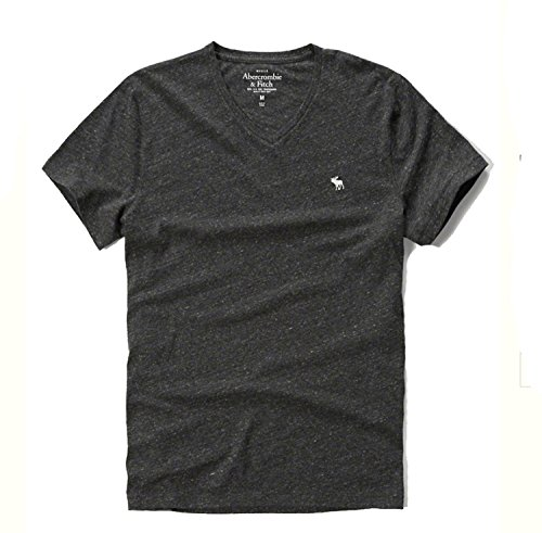 abercrombie-fitch-t-shirt-homme-multicolore-dark-gray-v-neck