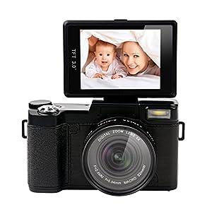 Ckeyin® 1080P HD Cámara Digital con TFT Pantalla 3.0