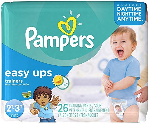Pampers Easy Ups Training Pants Size 4 16, 26 CT (Pack of 4)