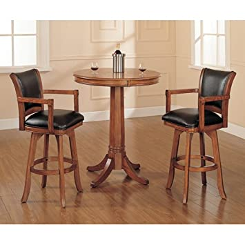 Park View Bar Height Bistro 3 Piece Set w/ Traditional Stools