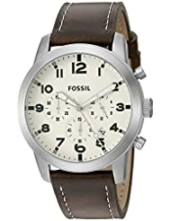 Fossil Grant Pilot Analog Off-White Dial Men's Watch - FS5146