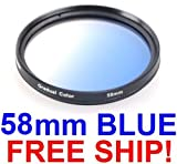 NEW!~58mm Graduated Filter Gradual Color 58mm *Blue*