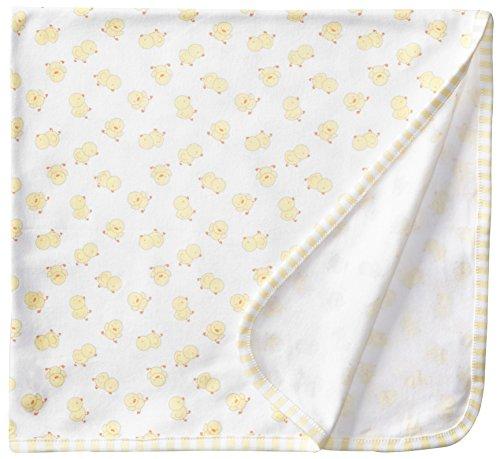Vitamins Baby Unisex-Baby Newborn Duck Printed Blanket, Yellow, One Size